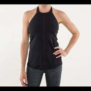 Lululemon halter size 6 built in bra. Black